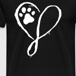 Elegant Dog Heart - Men's Premium T-Shirt