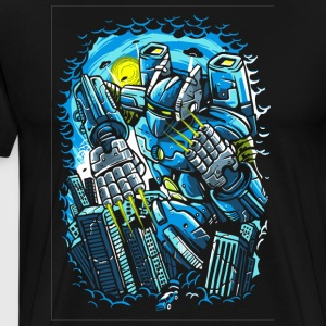 Destroy The City. The Horrible Robot Attack. - Men's Premium T-Shirt