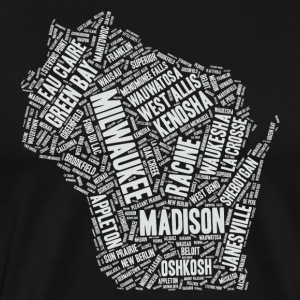 Wisconsin Cities - Men's Premium T-Shirt