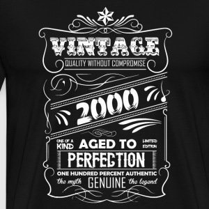 Vintage Aged To Perfection 2000 - Men's Premium T-Shirt