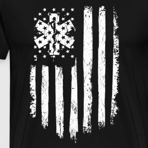 EMT Gift Distressed American Flag - Men's Premium T-Shirt