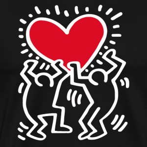 Keith Haring joget black vectorized - Men's Premium T-Shirt