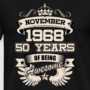 November 1968 50 Years Birthday Present Love Idea - Men's Premium T-Shirt