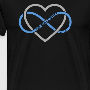 Blue Lives Matter Infinity Thin Blue Line - Men's Premium T-Shirt