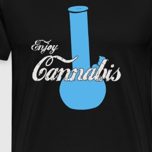 Enjoy Cannabis Cool Coke Bong Funny Pot Marijuana - Men's Premium T-Shirt