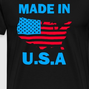 Made USA Funny American Flag - Men's Premium T-Shirt