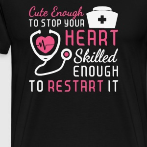 Cute Enaugh to stop your heart - Men's Premium T-Shirt