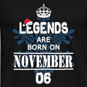 Christmas Legends Kings are born on november 06 - Men's Premium T-Shirt