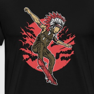 Indian Chief Skateboard. Chief Of Skateboarding. - Men's Premium T-Shirt
