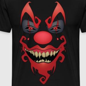 Cool Awesome Dark Evil Clown Gift Graphic Tshirt - Men's Premium T-Shirt