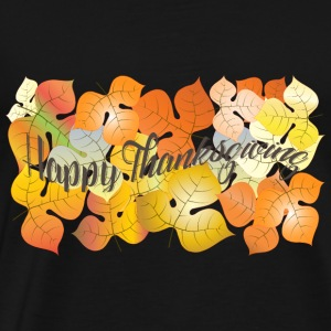 Autumn leaves-Greeting autumn card for Thanksgivin - Men's Premium T-Shirt