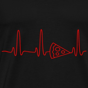 GIFT - EKG PIZZA RED - Men's Premium T-Shirt