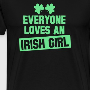 Irish Girl Fun Gift Ideas St Patricks Day - T-shirt premium pour hommes