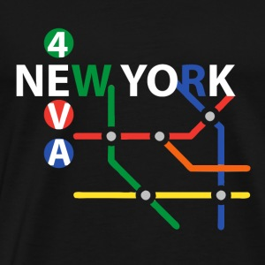 NYC subway t shirt gift - Men's Premium T-Shirt