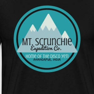 Mt Scrunchie Expedition Co: Home of the Disco Yeti - Men's Premium T-Shirt
