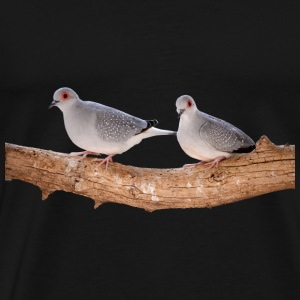 mourning doves diamond pigeon diamanttauben5 - Men's Premium T-Shirt