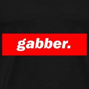 techno mischpult red bass bpm gabber - Men's Premium T-Shirt