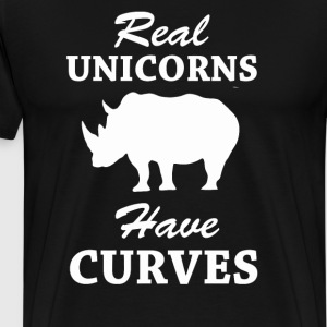 Real Unicorns Have Curves - Men's Premium T-Shirt