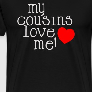 Cousins Love Cute Hearts - Men's Premium T-Shirt