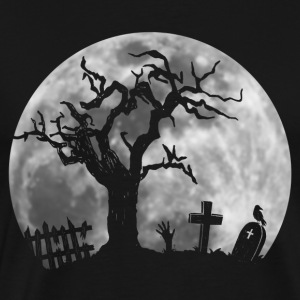 cool halloween graveyard zombie hand creeping out - Men's Premium T-Shirt
