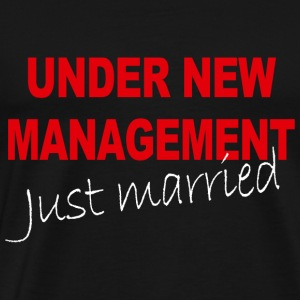 Under New Management Just Married Mens Black Weddi - Men's Premium T-Shirt