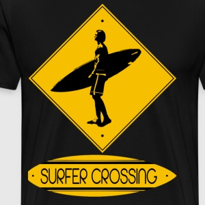 Surfer Crossing - Men's Premium T-Shirt