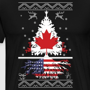 Canadian with American root - Men's Premium T-Shirt