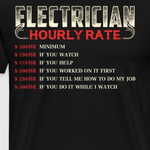Electrician Hourly Rate T Shirt - Men's Premium T-Shirt