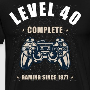 Level 40 Complete - 40th Birthday Gift for Gamers - Men's Premium T-Shirt