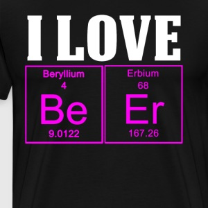I Love Beer Periodic Table T Shirt Women - Men's Premium T-Shirt