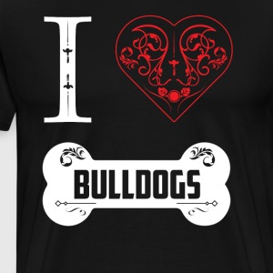 Funny Bulldog Shirt I Heart Bulldogs Bone Ornaments - Men's Premium T-Shirt