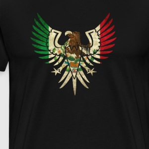 Cool Eagle Mexican Shirt With Mexican Flag Shirt for Mexican Pride - Men's Premium T-Shirt