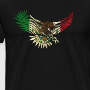 Cool Flying Eagle Vintage Mexican Shirt Design Mexican Flag Shirt for Mexican Pride - Men's Premium T-Shirt