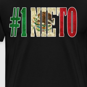 Nieto Gift Mexican Shirt For Mexican Flag T Shirt for Mexican Pride Vintage Outline - Men's Premium T-Shirt