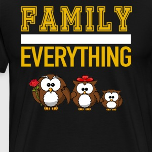 Family Over Everything Master Owl Family - Men's Premium T-Shirt