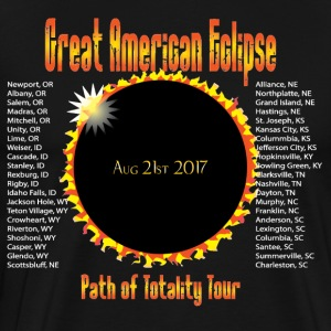 Great American Eclipse Path of Totality City List - Men's Premium T-Shirt