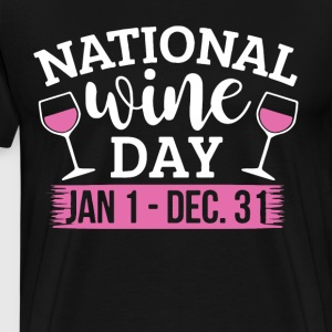 national wine day everyday t-shirts - Men's Premium T-Shirt