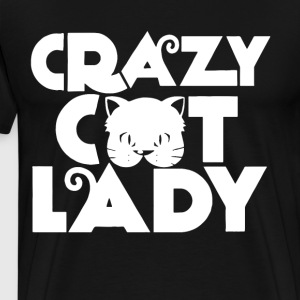 CRAZY CAT LADY T-SHIRTS - Men's Premium T-Shirt
