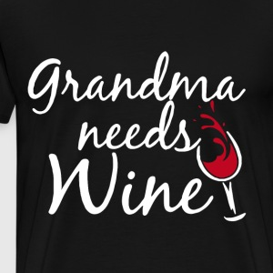 Grandma Needs Wine t-shirts - Men's Premium T-Shirt