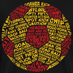 Soccer Ball Typography - Men's Premium T-Shirt