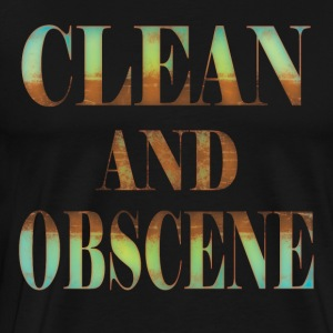 Clean and Obscene words4 - Men's Premium T-Shirt