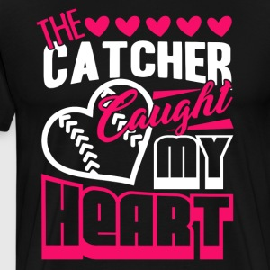 My Heart Softball Shirt - Men's Premium T-Shirt