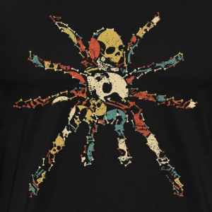 TARANTULA Halloween Skeleton Skull Vintage Retro - Men's Premium T-Shirt