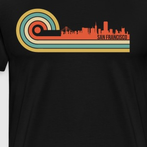 Retro Style San Francisco California Skyline - Men's Premium T-Shirt