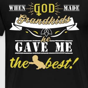 When God Made Grandkids T Shirt - Men's Premium T-Shirt
