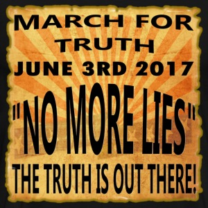 March For Truth - 6-3-2017-No More Lies - Men's Premium T-Shirt