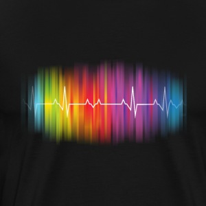Gay Pride - Gay Rainbow Pulse - Men's Premium T-Shirt