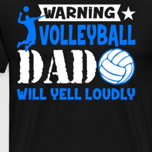 Volleyball Shirt - Warning Volleyball Dad Shirts - Men's Premium T-Shirt