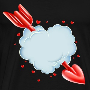 Valentine s Day Cloud Heart love tshirt - Men's Premium T-Shirt