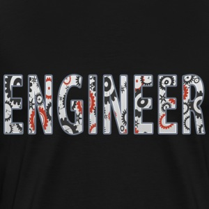 Engineer Internal cogs logo T Shirt - Men's Premium T-Shirt